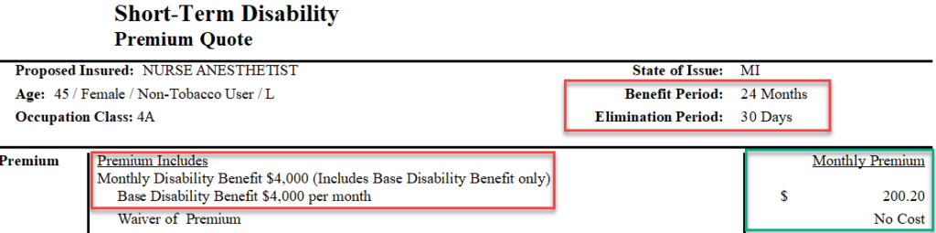 isability insurance for nurse anesthetists